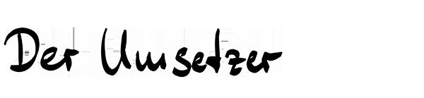 TROI – Der Umsetzer :: Handschrift-Grafik